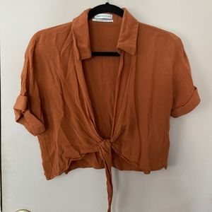 UO Tie Up Blouse. LIKE NEW.